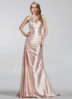 A-Line/Princess Sweetheart Sweep Train Ruffle Beading Zipper Up Strapless Sleeveless Pearl Pink Spring Summer Fall General Plus Charmeuse Evening Dress Event Dresses, Ball Dresses, Ball Gowns, Formal Dresses, Dresses 2013, Cheap Lace Wedding Dresses, Wedding Party Dresses, Bridesmaid Dresses, Dress Prom