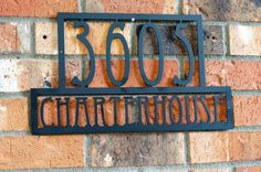 Modern House numbers / Steel house numbers / by GlamorousFindings