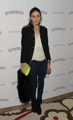 """TV personality Olivia Palermo attends the premiere of """"The Imaginarium of Doctor Parnassus"""" at the Crosby Street Hotel on December 7, 2009 in New York City."""