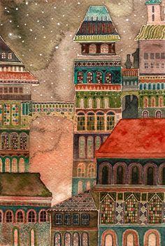 first snow Canvas Print by Nokkasili