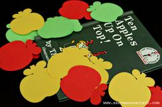 Apples on Top felt board (variation on earlier pin) I like that it's just apples, so it's not necessarily limited to a Dr. Suess activity--you could use them at back-to-school, for everyday counting, color recognition....