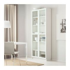 "BILLY / OXBERG Bookcase - white, 31 1/2x79 1/2x11 3/4 "" - IKEA. This would be great for storing shoes and purses. Nice way to display them as well!"