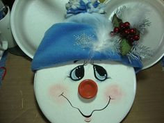 Snowman Faces, Snowman Crafts, Halloween Crafts, Holiday Crafts, Christmas Art, Christmas Projects, Xmas Ornaments, Christmas Decorations, Alex Craft