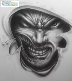 92eb872805131 34 Best Evil Girl Faces Tattoos images in 2017   Girl face tattoo ...