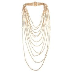 ROSANTICA chain pearl necklace ($659) ❤ liked on Polyvore featuring jewelry, necklaces, accessories, jewels, pearl jewellery, rosantica, cable chain necklace, gold tone chain necklace and gold tone jewelry