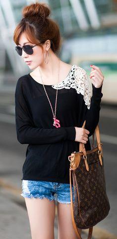 Lace shoulders #stylesensation