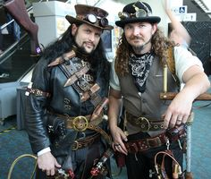 Men's steampunk outfits.