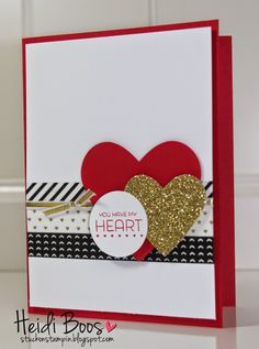 card heart hearts love valentaines day be my valentine - by Heidi: Filled with Love Paper Pumpkin, Stacked with Love Washi Tape, Hearts framelits, & more. All supplies from Stampin' Up! Valentines Day Cards Handmade, Valentine Greeting Cards, Greeting Cards Handmade, Karten Diy, Card Sketches, Creative Cards, Anniversary Cards, Scrapbook Cards, Homemade Cards