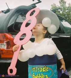 Bubble Girl Halloween Costume ;bubble girl what addi used to say she wanted to be though it was some sort of super hero she was imagining.