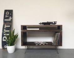 Stanton Small Record Player Stand / Vinyl Storage Cabinet /