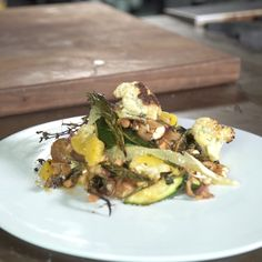Guy shows you how to make this fantastic Cauliflower and Chorizo Salad.