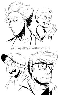 Rick and Morty and Gravity Falls