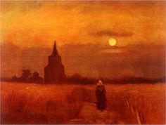 Vincent Van Gogh「THE OLD TOWER IN THE FIELDS」(1884)