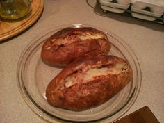 Baked Potato just like McAlister's Deli Ingredients  4 potatoes - 1/2 pound size russet potatoes vegetable oil Butter Bacon Cheese Instructions  Preheat your oven to 350 degrees. Wash and dry the potatoes. Rub the potato with oil and pinch it with a fork. Bake potatoes in the oven for approximately 1 hour. Check potato for doneness by inserting a fork and if it presses through easily, then the potato has completed cooking. Cut the potatoes in half and put inside 1 spoon of butter, bacon and…