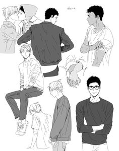 Why do they have to be fictional? All of the hot men are either not real or not straight 😔 / Haikyuu / hq / sugawara / daichi / karasuno / boyxboy / love / volleyball Kagehina, Daichi Sawamura, Sugawara Koushi, Daisuga, Kuroken, Haikyuu Ships, Haikyuu Fanart, Haikyuu Anime, Anime Manga