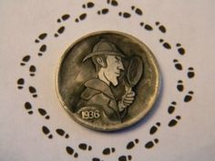Al Garr - A Detective's Motto Hobo Nickel, Motto, Detective, Coins, Carving, Portraits, Profile, User Profile, Rooms