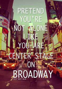 My favorite things: New York City, Broadway, and Adam Young lyrics <3