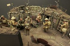 Michigan Toy Soldier Daily Dose 17jan2014 Check out this stunning 1/35th scale WWI diorama. www.michtoy.com