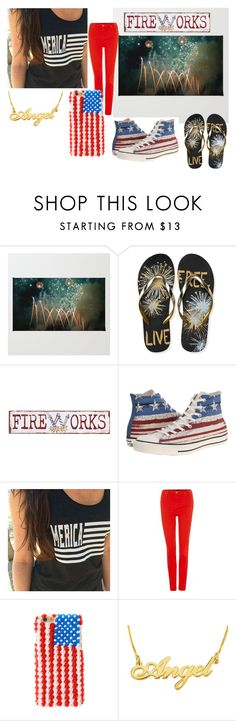 """Forth Of JULYXD"" by nialls-wife1 on Polyvore featuring Aéropostale, Pier 1 Imports, Converse and Lee"