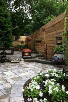 Fascinating Small Backyard Landscape Designs To Your Garden 6 Small Backyard Design, Backyard Garden Design, Small Backyard Landscaping, Landscaping With Rocks, Patio Design, Backyard Patio, Landscaping Ideas, Backyard Designs, Backyard Ideas