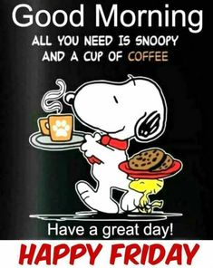 Me & coffee.Snoopy & Woodstock to start your morning!