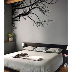 "Vinyl Wall Decal Sticker Tree Top Branches (M) 100"" W X 44"" H on Wanelo"