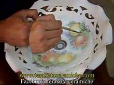 Terakota ceramiche,LAVORAZIONE CERAMICA ARTIGIANALE,CORSO PITTURA CERAMICA SICILIANA,POGGIAMESTOLO - YouTube
