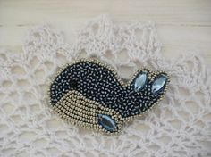 Brooch Whale brooch Bead jewellery embroidered by storesunshine