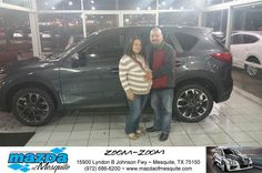 https://flic.kr/p/FmWV3q | Happy Anniversary to Luis on your #Mazda #CX-5 from Nick Searcy at Mazda of Mesquite! | deliverymaxx.com/DealerReviews.aspx?DealerCode=B979