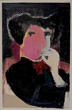 "Saatchi Art Artist siri skogstad berntsen; Painting, ""Madame Gonse eating chocolate"" #art"