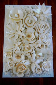 wall installation large paper flowers @ maria noble Author How to Make 100 Paper Flowers www.stjudescreations.com  #paperflowers #largepaperflowers