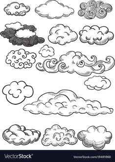 Royalty-Free Vector Images by Fisher_Vector (over Graffiti Lettering, Graffiti Art, Cloud Tattoo Design, Tatuagem Old Scholl, Cloud Illustration, Cloud Drawing, Line Art Vector, Cartoon Art Styles, Quilting