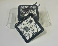 Black and white coasters White Coasters, Black And White, How To Make, Design, Black White, Black N White