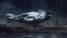 Survey Ship, Steve Burg on ArtStation at https://www.artstation.com/artwork/survey-ship