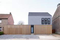 Renovation Private House – Tienen by AST 77 Architecten as Architects Creative Architecture, Architecture Art Design, Minimalist Architecture, Contemporary Architecture, Amazing Architecture, Arch House, House Cladding, Facade House, Tiny House