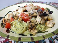 Creamy Lemon Pesto Chicken Pasta - found oon Plain Chicken's blog