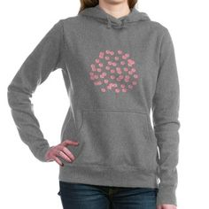 Women's Hooded Sweatshirt With Red Polka Dots