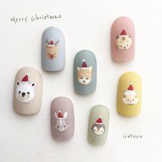 Nail art Christmas - the festive spirit on the nails. Over 70 creative ideas and tutorials - My Nails Kawaii Nail Art, Cute Nail Art, Cute Nails, Xmas Nails, Holiday Nails, Halloween Nails, Gel Nagel Kit, Nagel Gel, Christmas Nail Designs
