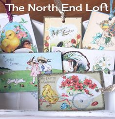 The North End Loft: Printable Vintage Easter Tags and Tutorial