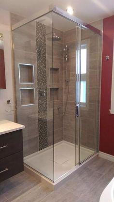 60 stunning small bathroom makeover ideas 74 ~ Design And Decoration Bathroom Design Layout, Bathroom Design Luxury, Modern Bathroom Design, Bathroom Renovations, Bathroom Inspiration, Small Bathroom, Diy Shower, Shower Remodel, Easy Diy