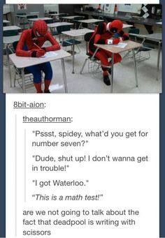 This is SO Deadpool...
