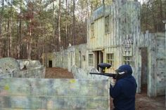 My kids loved Arkenstone Paintball. They have several courses and games.