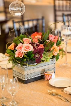 Pretty California Wedding in Coyote Hills from Koman Photography - wedding centerpiece idea