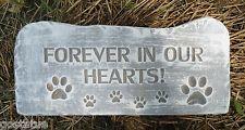 dog forever in your heart memorial plastic mold concrete plaster garden mould