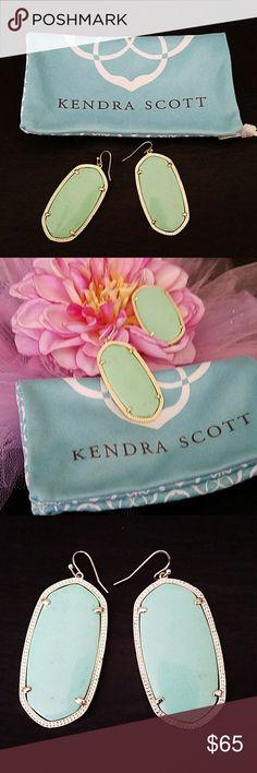 Kendra Scott earrings Kendra Scott large earrings beautiful mint color. Comes with bag Kendra Scott Jewelry Earrings