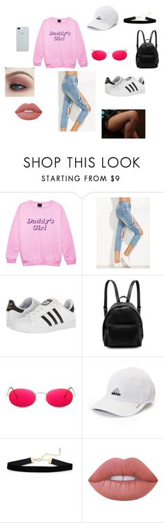 Daddy's Girl by kardashianperdida on Polyvore featuring adidas, STELLA McCARTNEY, ETUÍ, Lime Crime, Sweater, daddy and Moletom