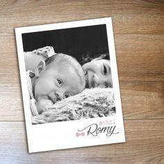 Magnet polaroid naissance pour fairepart ou comme remerciement pour bébé. A commander sur www.pastillesetpetitspois.fr
