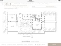 Croom Construction, Co. - Plan A Golf Estate, Real Estate, Windsor Florida, Plan A, How To Plan, New Urbanism, Fireplace Set, Elevation Plan, Ground Floor Plan