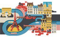 paris city illustration World city illustrations by Jing Zhang