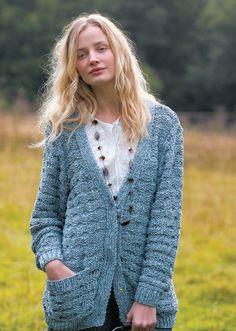 Free Knitting Pattern - Women's Cardigans: Textured Cardigan